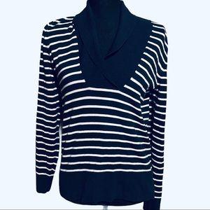 Banana Republic Nautical Navy Stripe Sweater Top S